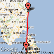 Colombo (Bandaranayake, CMB) - Chennai (Madras International, MAA)