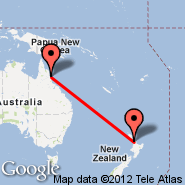 Cairns (Cairns International Airport, CNS) - Auckland (Auckland International, AKL)