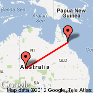 Cairns (Cairns International Airport, CNS) - Ayers Rock (Connellan, AYQ)