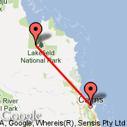 Cairns (Cairns International Airport, CNS) - Lakefield (LFP)