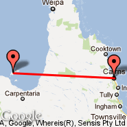 Cairns (Cairns International Airport, CNS) - Mornington Island (Mornington, ONG)