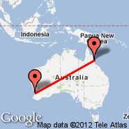 Cairns (Cairns International Airport, CNS) - Perth (Perth International, PER)