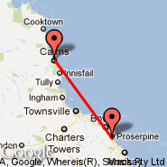 Cairns (Cairns International Airport, CNS) - Proserpine (Whitsunday Coast, PPP)