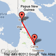 Cairns (Cairns International Airport, CNS) - Thursday Island (Horn Island Airport, TIS)