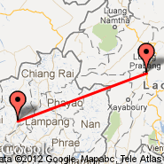 Chiang Mai (Chiang Mai International, CNX) - Luang Prabang (Luang Prabang International Airport, LPQ)