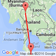 Chiang Mai (Chiang Mai International, CNX) - Songkhla (SGZ)