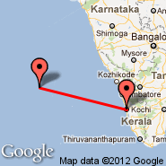 Kochi (Cochin International, COK) - Agatti Island (AGX)
