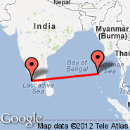 Kochi (Cochin International, COK) - Port Blair/Andaman Isl. (Port Blair, IXZ)