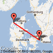 Copenhagen (Kastrup, CPH) - Thisted (TED)