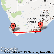 Cape Town (Cape Town International, CPT) - Port Alfred (AFD)