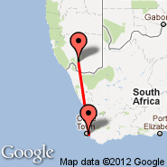 Cape Town (Cape Town International, CPT) - Ai-ais (AIW)