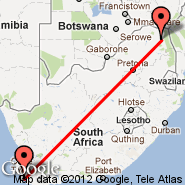 Cape Town (Cape Town International, CPT) - Giyani (GIY)