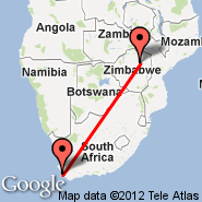 Cape Town (Cape Town International, CPT) - Harare (Harare International Airport, HRE)