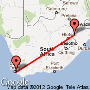 Cape Town (Cape Town International, CPT) - Harrismith (Harrismith Airport, HRS)