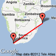 Cape Town (Cape Town International, CPT) - Inhambane (INH)