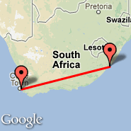 Cape Town (Cape Town International, CPT) - Port Saint Johns (JOH)