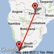 Cape Town (Cape Town International, CPT) - Kitwe (Southdowns, KIW)