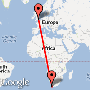 Cape Town (Cape Town International, CPT) - London (Metropolitan Area, LON)
