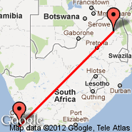 Cape Town (Cape Town International, CPT) - Tzaneen (Letaba, LTA)