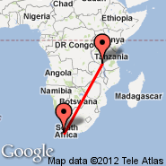 Cape Town (Cape Town International, CPT) - Mbeya (MBI)
