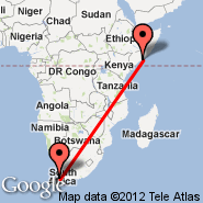 Cape Town (Cape Town International, CPT) - Mogadišu (Mogadishu International Airport, MGQ)