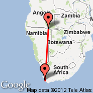 Cape Town (Cape Town International, CPT) - Rundu (NDU)