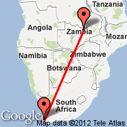 Cape Town (Cape Town International, CPT) - Ndola (NLA)