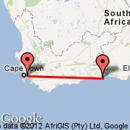 Cape Town (Cape Town International, CPT) - Plettenberg Bay (PBZ)
