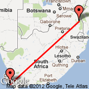 Cape Town (Cape Town International, CPT) - Phalaborwa (Cape Town, PHW)