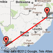 Cape Town (Cape Town International, CPT) - Mbabane (QMN)