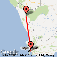 Cape Town (Cape Town International, CPT) - Springbok (SBU)