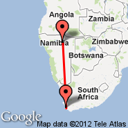 Cape Town (Cape Town International, CPT) - Tsumeb (TSB)