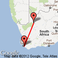 Cape Town (Cape Town International, CPT) - Upington (UTN)