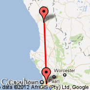 Cape Town (Cape Town International, CPT) - Vredendal (VRE)