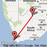 Cape Town (Cape Town International, CPT) - Vryburg (VRU)