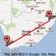 Cape Town (Cape Town International, CPT) - Vryheid (VYD)