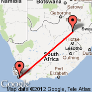 Cape Town (Cape Town International, CPT) - Secunda (ZEC)