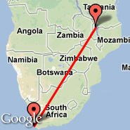 Cape Town (Cape Town International, CPT) - Mzuzu (ZZU)