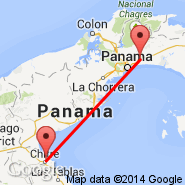 Chitre (Herrera Alonso Valderrama, CTD) - Panama City (Tocumen International, PTY)