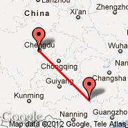 Chengdu (Shuangliu, CTU) - Guilin (Liangjiang International Airport, KWL)