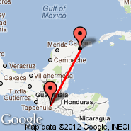 Cancun (Cancún International, CUN) - Guatemala City (La Aurora, GUA)