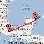Cancun (Cancún International, CUN) - Oaxaca (Xoxocotlan, OAX)