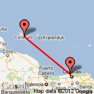 Curacao (Hato International Airport, CUR) - Caracas (Simon Bolivar International Airport, CCS)