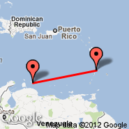 Curacao (Hato International Airport, CUR) - St. Lucia (Hewanorra, UVF)