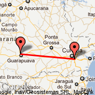 Curitiba (Afonso Pena International Airport, CWB) - Guarapuava (Tancredo Thomaz Faria, GPB)