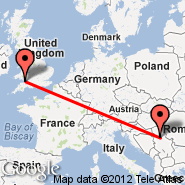 Cardiff (Cardiff International Airport, CWL) - Belgrade (Nikola Tesla, BEG)