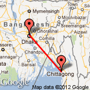 Dhaka (Zia International, DAC) - Chittagong (Patenga, CGP)