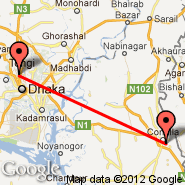 Dhaka (Zia International, DAC) - Comilla (CLA)