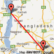 Dhaka (Zia International, DAC) - Sirajganj (SAJ)
