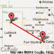 Dallas (Dallas/Fort Worth International, DFW) - Amarillo (Rick Husband Amarillo International, AMA)